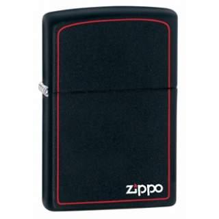 Zippo Logo & Red Border Zippo Lighter