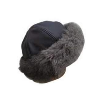 Genuine Leather & Fur Fashion Hat