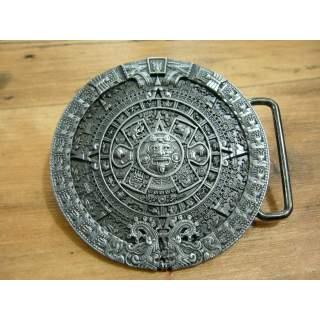 Aztec Style Unisex Zinc Silver Finish Belt Buckle.Round
