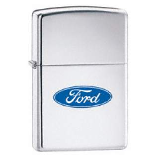 Ford Oval Logo Zippo Lighter.Chrome Finish