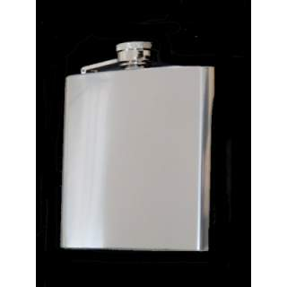 HIGHLY POLISHED FINISH STAINLESS STEEL SQUARE STYLE 60Z HIPFLASK