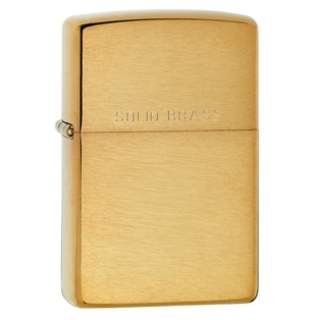 Solid Brass engraved on a Brushed Fiinish Zippo Lighter