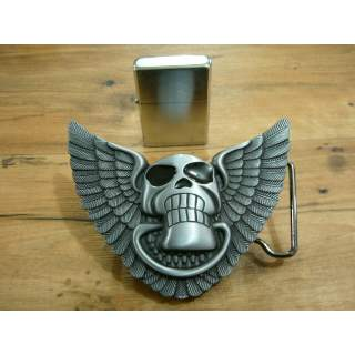 GRINNING SKULL BUCKLE WITH FREE LIGHTER INSIDE