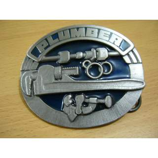 """Plumber Trade """"Proud To Be A Plumber"""" Belt Buckle"""