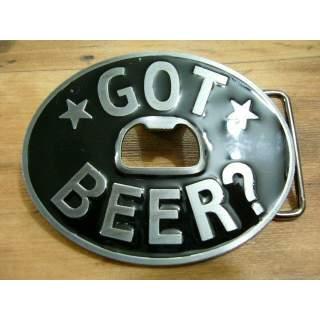"""""""Got Beer"""" Bottle Opener Buckle Oval"""