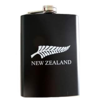 NEW ZEALAND SOUVENIR - 8 0Z STAINLESS STEEL HIP FLASK