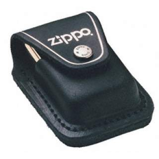 Zippo Pouch Black Leather with Belt Loop