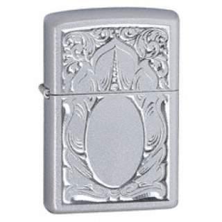 Scrolled Mirror Zippo Lighter