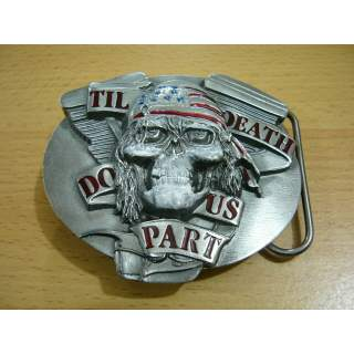 """""""Till Death Do Us Part"""" Belt Buckle.Made In The USA"""