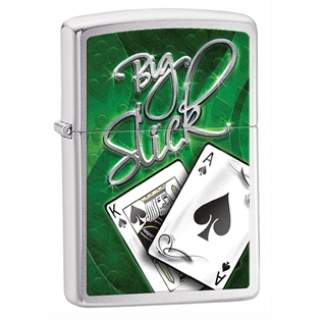 Big Slick Poker Players Zippo Lighter
